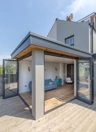 roof wonderful roof eave corner opening bi fold doors flat roof