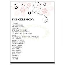 do it yourself wedding programs pink black wedding program templates soft pink do it
