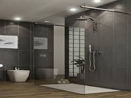 wonderful grey full tile in contemporary bathroom added