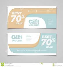 two coupon voucher design gift voucher template with amount of