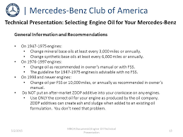 mercedes engine recommendations mbca documents engine technical presentation ppt