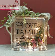 crafts projects love of family lighted craft block ben