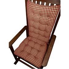 amazon com rocking chair cushions checkers red u0026 tan 1 4