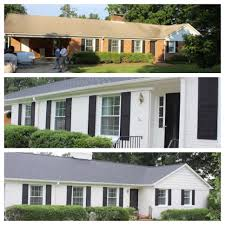 curb appeal before and after paint brick house white adds