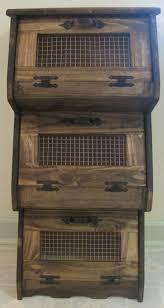 27 veggies storage cupboard vegetable bin wood potato storage