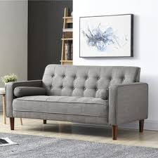 Grey Linen Sofa by Linen Sofas You U0027ll Love Wayfair