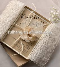 bridesmaid invitations rustic chic vintage burlap theme bridesmaid invitations with lace