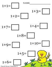 math worksheets kindergarten worksheet for and first grade