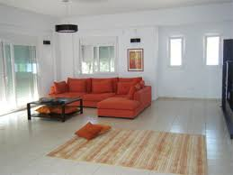 Living Room With Orange Sofa Livingroom Colors Decor Ideas Living Room Paint Colors For A