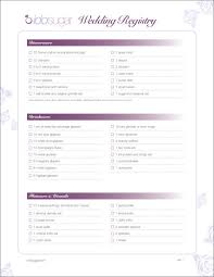 Wedding Registry Popsugar Food by Wedding Registry Checklists Free Samples In Pdf
