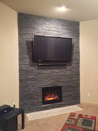 from dull to dramatic fireplace transformed with cultured stone