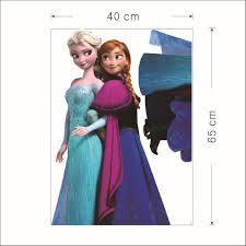 home decor frozen anna queen ellsa wall stickers cartoon wallpaper