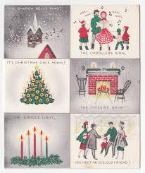 burgoyne christmas cards vintage greeting card christmas mid century