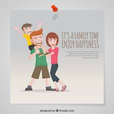 it s a family time enjoy happiness vector free