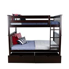Solid Wood Bunk Beds With Storage Max Solid Wood Bunk Bed With Bed Storage Drawer