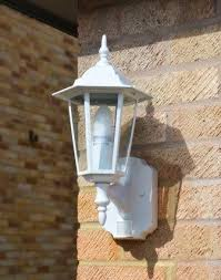 Regent Outdoor Lighting Regent Outdoor Wall Light With Pir White Motion Sensor Wall