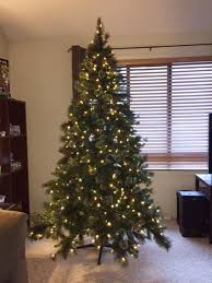 christmas tree prelit led great shop trees by light type led