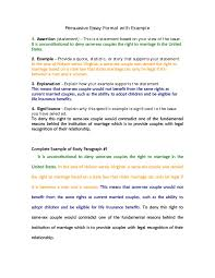 Law Essay Example Argumentative Essay Written Examples