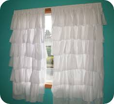 new wave domesticity ruffle curtains tutorial