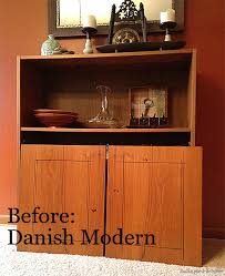 diy cabinet makeover from danish modern to