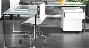 White Desk With Glass Top by Manhattan Desk By Cagu White Glass And Chrome Finding Desk