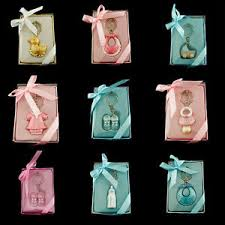 keychain favors pink blue baby shower key chain favor lot of 6 pieces