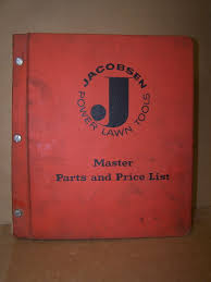 vintage jacobsen power lawn tools master parts u0026 price list manual