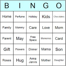 mother u0027s day bingo cards and free bingo games to download and