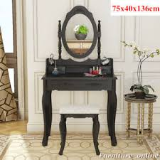 black makeup desk with drawers modern black makeup desk dressing table set with 1 stool 4 drawers