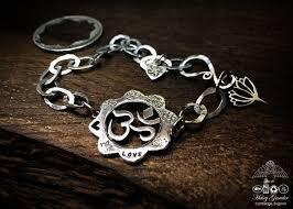 flower silver bracelet images Hairy growler jewellery kundalini collection om lotus bracelet jpg