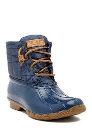 s boots nordstrom rack sperry saltwater shiny quilted waterproof boot nordstrom rack