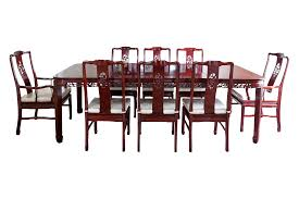 rosewood chinese formal dining table u0026 8 chairs chairish