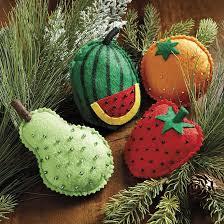 bunny williams felt fruit ornaments set of 4 ballard designs