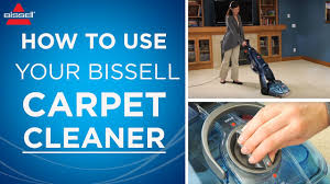 how to use a bissell carpet cleaner youtube