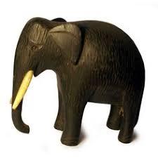 sale wooden elephant figurine vintage carved safari animal