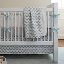 Gray Chevron Crib Bedding Blue And Taupe Paisley 3 Crib Bedding Set Carousel Designs