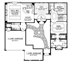 style house plans with courtyard cervantes santa fe style home plan 051d 0350 house plans and more