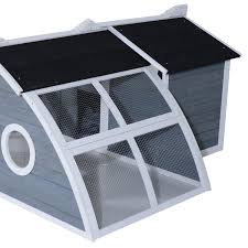 aosom pawhut deluxe backyard chicken coop barn with curved