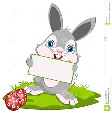 easter bunny and card stock vector image of toothy happiness