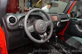 interior jeep wrangler 2015 jeep wrangler sahara interior at the iaa 2015 indian autos blog