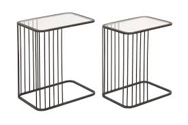 Uma Table L Modern Reflections Rectangular L Shaped Nesting Tables Set Of 2