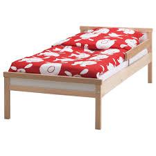 sniglar bed frame with slatted bed base beech 70x160 cm ikea