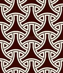 seamless pattern with traditional japanese ornament bishamon