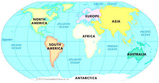 Blank Map Of Continents And Oceans Worksheet by World Map With Oceans With Of Roundtripticket Me