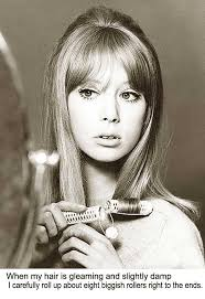 1960s long hairstyle tips by sixties model pattie boyd