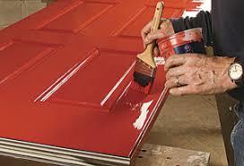 brush painting a steel door fine homebuilding