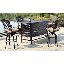 Darlee Patio by Piece Cast Aluminum Patio Party With Darlee Outdoor Bar Furniture