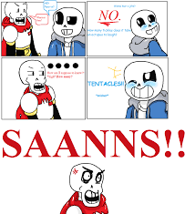 undertale sans and papyrus comic tentacles by