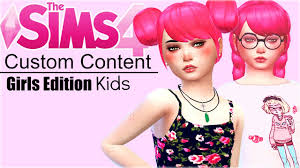 child bob haircut sims 4 the sims 4 custom content kids girls youtube