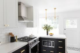black lower kitchen cabinets white 4 two tone kitchen cabinet ideas to transform your space